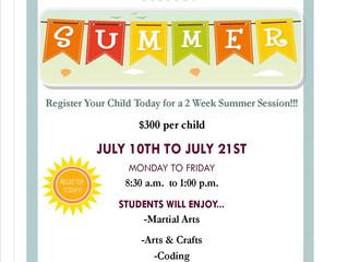 Register Today for Summer Session!!!