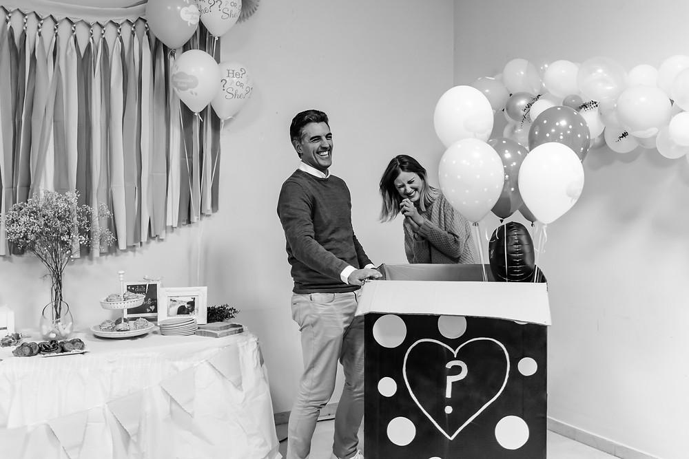Photographing gender reveal party Valencia; fotografias de fiesta para anunciar el sexo del bebé