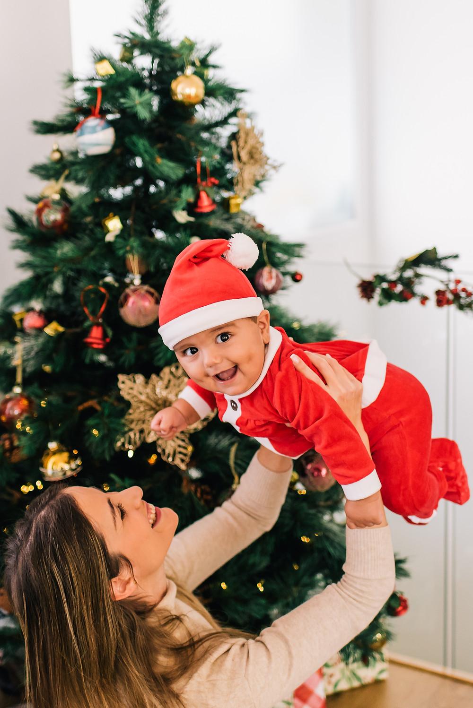 Sesion de fotos familiar navideña en Valencia