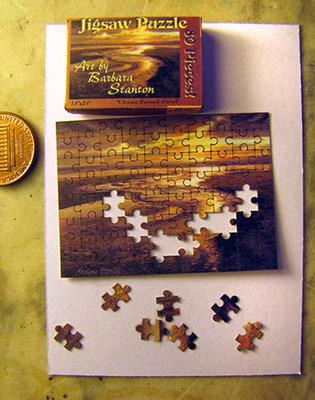 """""""Ocean Sunset Swirl"""" Puzzle"""