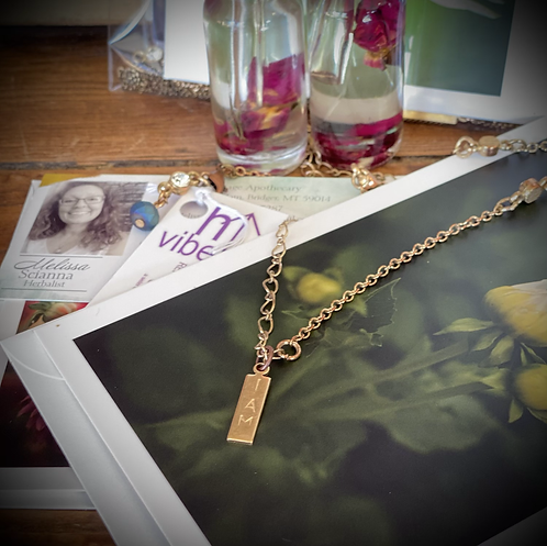 Mantra Intention Necklace and Oil Set