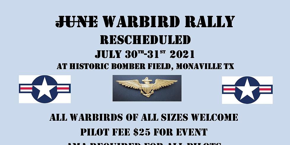 rescheduled June Warbird Pilot registration