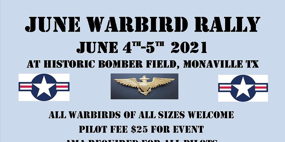 June Warbird Pilot registration