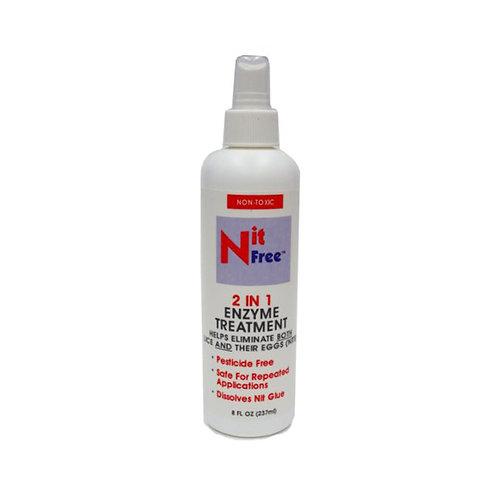 Nit Free 2 in 1 Enzyme Treatment 8 Fl. Oz