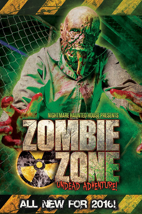 Nightmare Haunted House, Zombie Zone, Myrtle Beach Haunted House