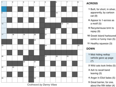 From The Archives 1: Thumb Crossword