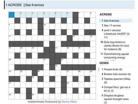 Cryptic 4: Indeterminate Crossword