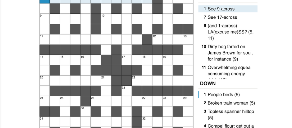 Cryptic 4: Indeterminate Crossword