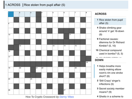 Cryptic 1: How To Crossword