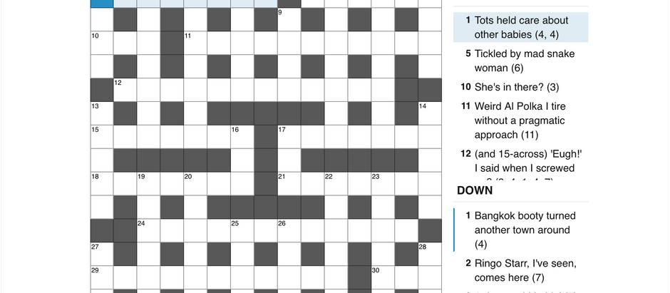 Cryptic 3: And Now, The Story Of A Crossword