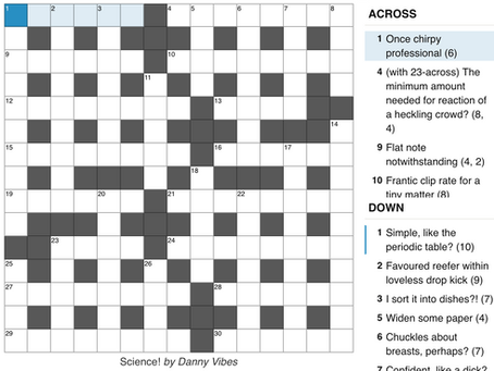 From The Archives 8: Another Crossword