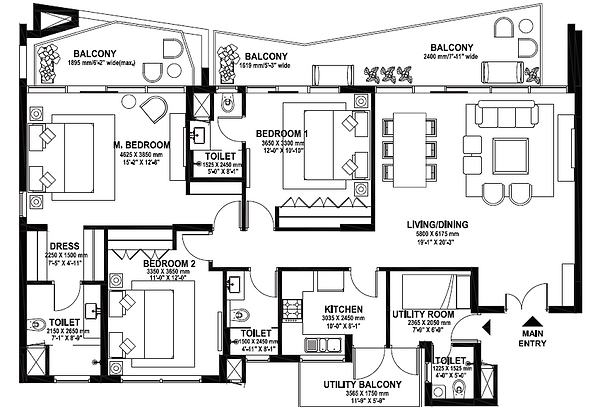 3 BHK Typical Layout.png