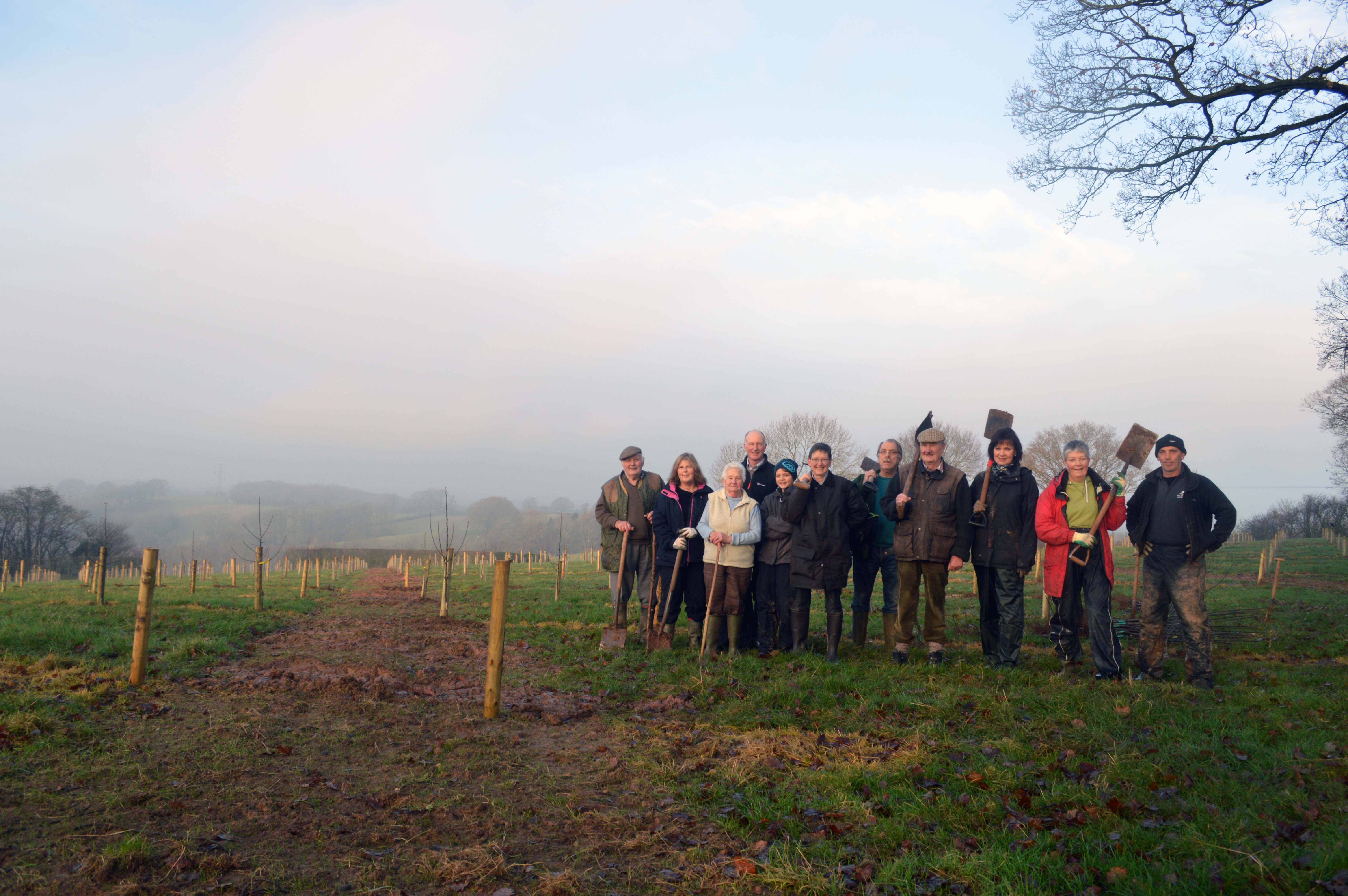 Frith Common tree planting team 2