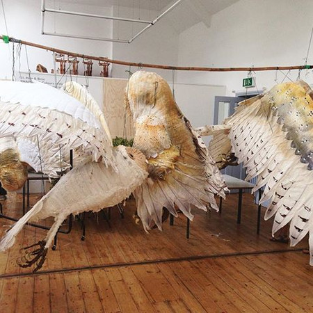 Giant Owl, Abbergaverny Food Festival, Willow inside Design Bettina Reeves. Professional Basket Maker Issy Wilkes