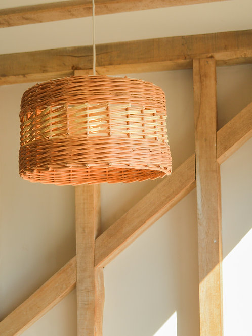 Large Willow Drum Lampshade