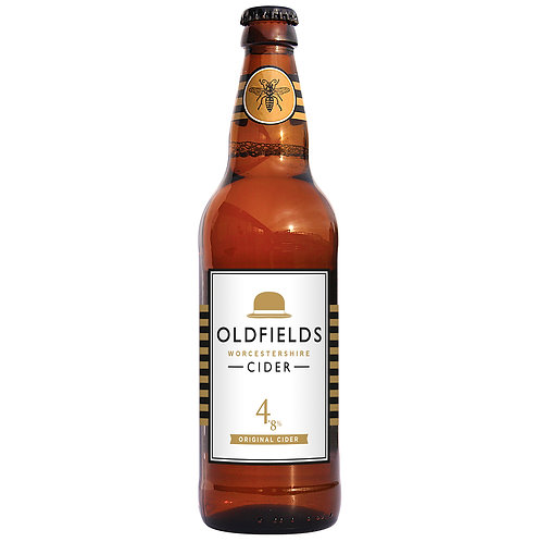 Oldfields Original Cider 4.8%, Case of 12x500ml Bottles