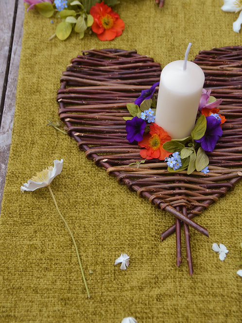 Brown Willow Hearts