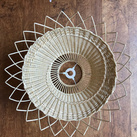 Willow Lampshade, Basket light Woven lighting wicker rattan flower style By Basketmakers and weavers, Jenny Crisp and Issy Wilkes