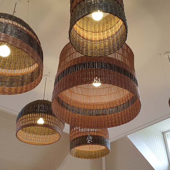 Woven Willow Lampshades Sandringham Estate