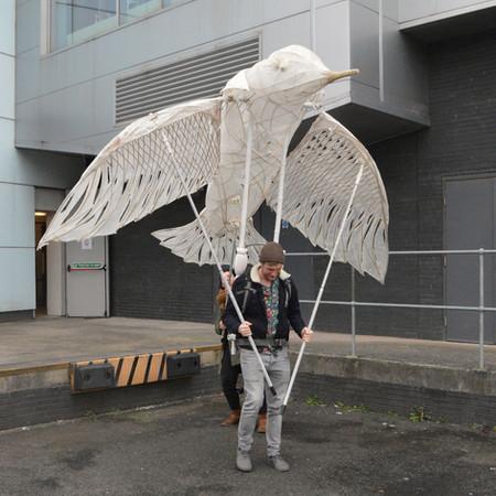 Willow Lantern Bird Puppet Sculpture by Professional Basketmaker Issy Wilkes