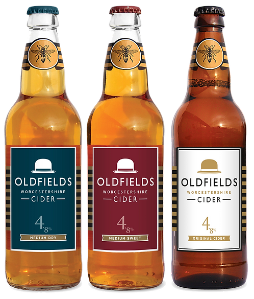 Mixed Case of Oldfields Cider, 12x500ml Bottles