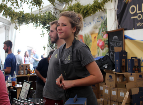 Issy with Oldfields at Ludlow Food Festi