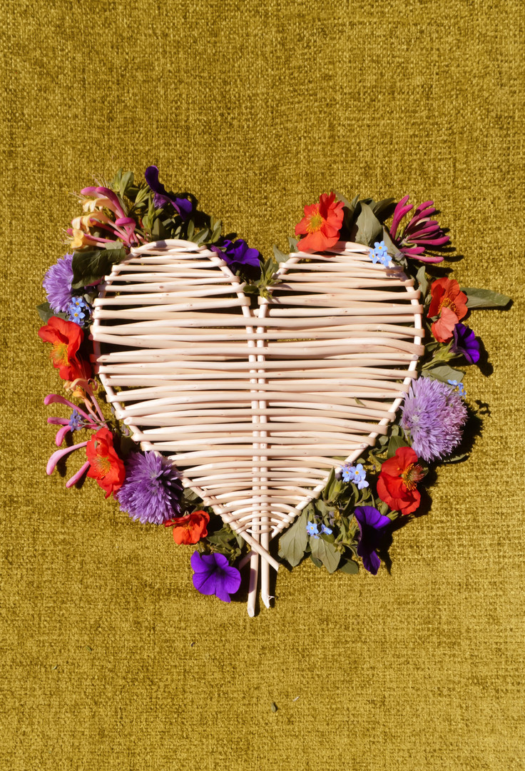 Willow Wicker Woven hearts, handmade  gi