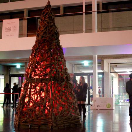 Willow Christmas Scuplture Wicker Bonfire Installtion Professional Basket Maker Issy Wi