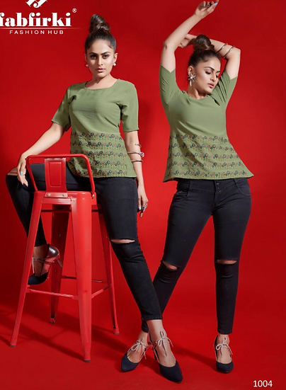 Green A-Line Top