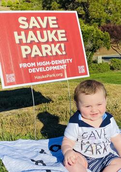 Baby G enjoying a nice day at Hauke Park