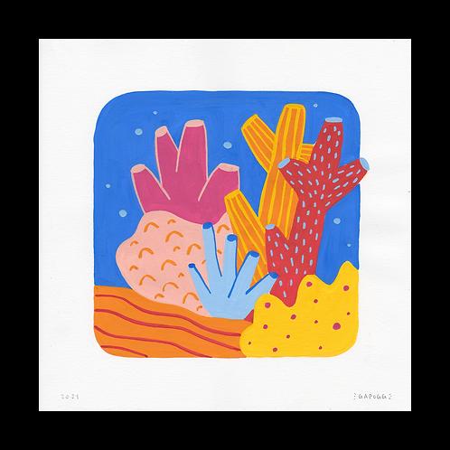 Corals · Gouache · 21x21