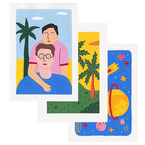 Custom Illustrations · Gouache