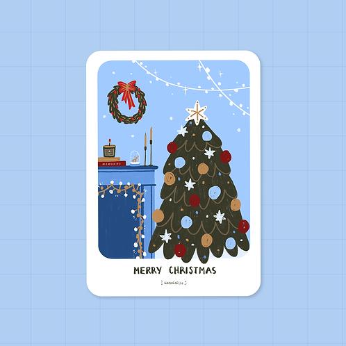 Merry Christmas · Postcard