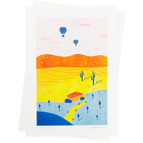 Ballons · Riso · A4