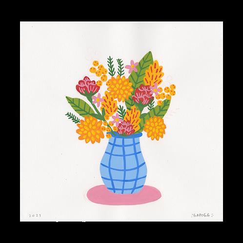 Bouquet · Gouache · 21x21