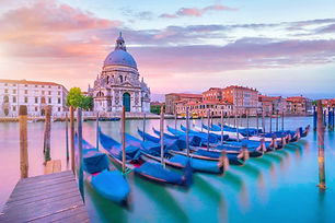 Grand Canal in Venice, Italy with Santa