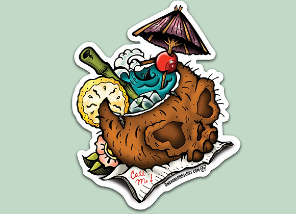 Skullconut Sticker