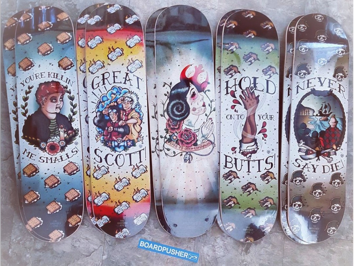 Pop Culture Skate Decks available for order