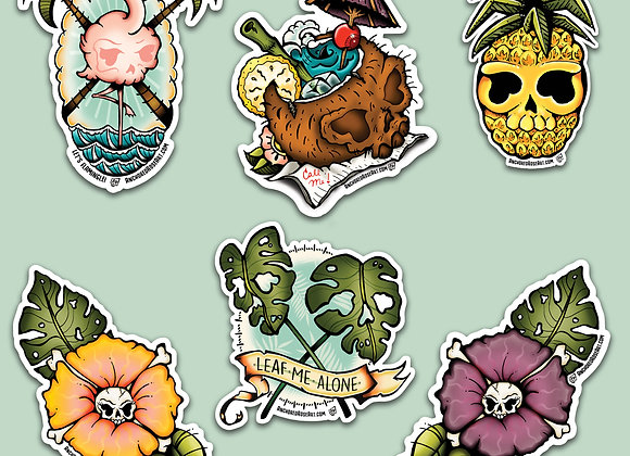 Tropiskull Sticker Set