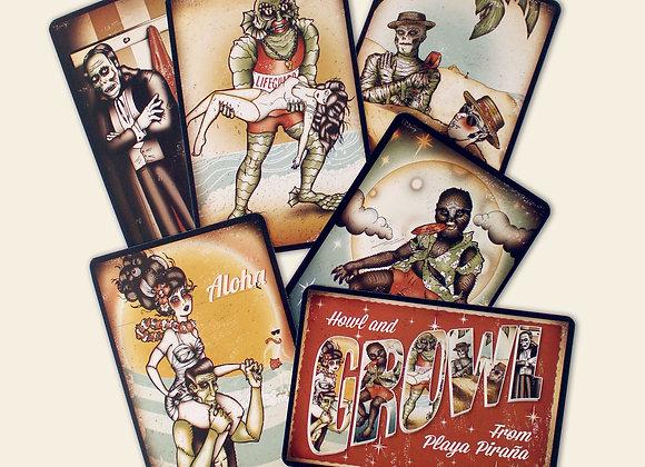Seaside Creeps Postcard Set