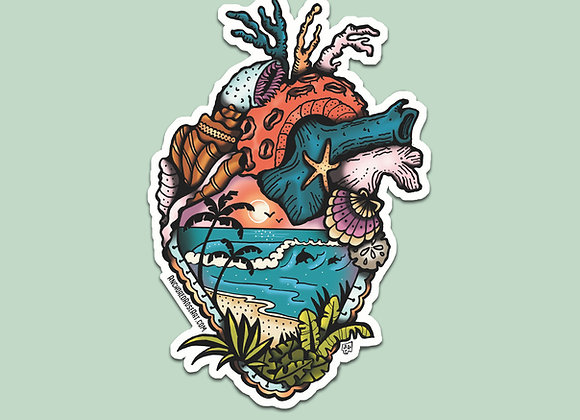 Salty Heart Sticker