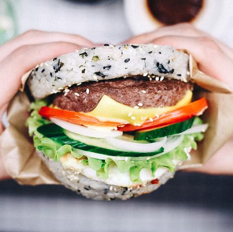 Бургер Ким с мраморной говядиной