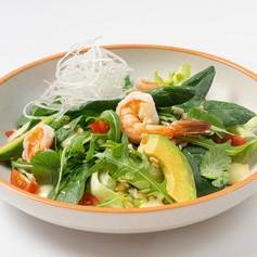 Салат с креветками и булгуром
