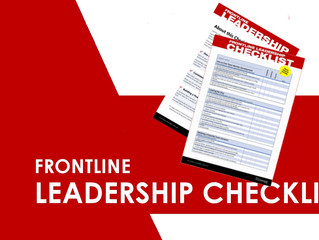 Do you know what a Frontline Leader should be doing?