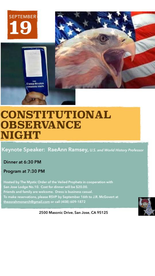 Constitutional Observance Night Flyer