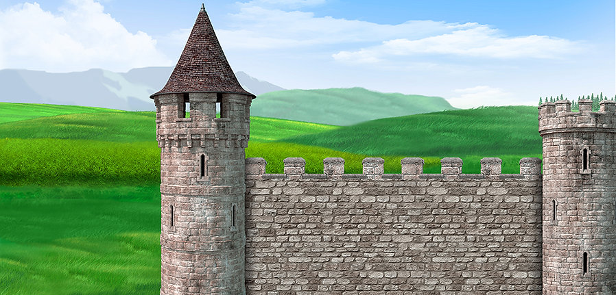 Preview Size New Castle wall courtyard.j