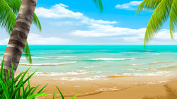D124 Beach Scene DS