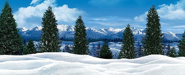 Frozen snowy field in mountains preview.