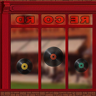 Jaduke Record Store Window with recor3d.