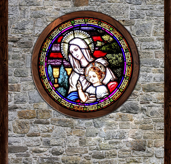 Sister Act Center stained glass panel  s